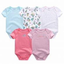 Baby Short Sleeve Cotton Rompers