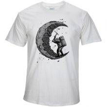 Men's Moon Printed T-Shirt