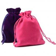 Colorful Velvet Jewelry Bags (10pcs/Set)