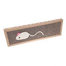 Funny Mouse Embroidery Cardboard Cat Scratcher