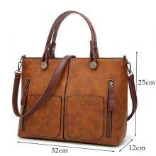 Women's Vintage Leather Tote Bag