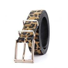 Women's Leopard Pattern Metal Buckle Belts