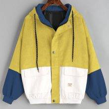 Winter Warm Color Hooded Jacket