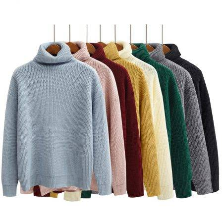 Women's Sweater Sweaters Women's Clothing Color : Beige|Black|Sky Blue|Gray|Green|Pink|Red|Yellow