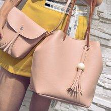 Women's PU Leather Bag with Tassels 4 Pcs Set