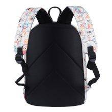 Preppy Style Cute Owl Printed Women's Canvas Backpack