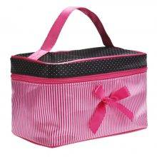 Women's Portable Striped Cosmetic Bag