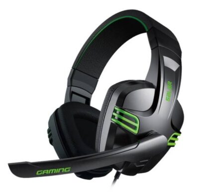 Cyber Style Gaming Stereo Headphones with Microphone Gadget Accessories Headphones & Speakers Color : Black
