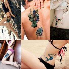 Colorful Temporary Tattoo