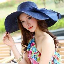 Women's Beach Foldable Bowknot Decorated Hats
