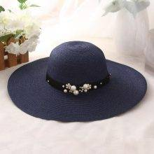 Women's Beach Beads Decorated Hats