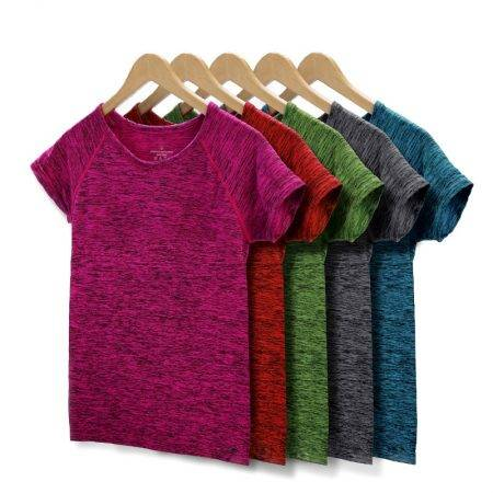 Women Yoga Short Sleeved Tops Tops & Tees Women's Clothing Color : Blue|Gray|Green|Orange|Rose Red