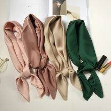 Women's Solid Color Satin Scarf