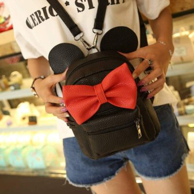 Women's Cute Mouse Backpack Color : Gray and White|Black and Red|Pink and White|Gray and Red|Black |Purple and White|Light Gray and White|White and Pink|Pink and White|Pink and Purple