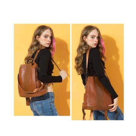 Women's Anti-Thief Design Backpack Color : Black|Blue|Brown|Grey|Red|Black/Oxford