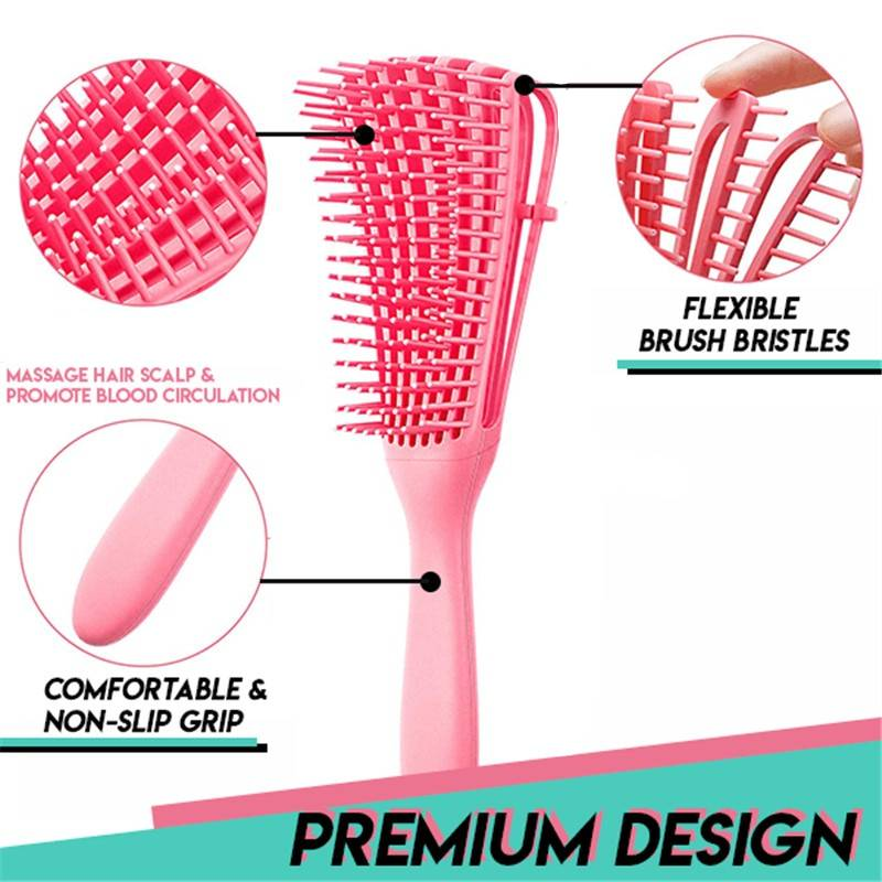 Magic Detangling Brush Hair Care & Styling Health & Beauty Color : Black|Pink|Mint Green